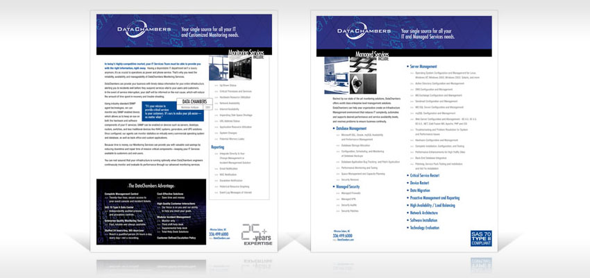 sales sheet design in the greensboro area