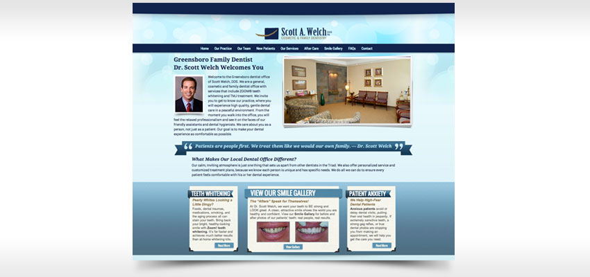 Greensboro NC web site designer